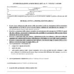 AUTOCERTIFICAZIONE COVID