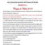 APERTURA ISCRIZIONI CAMPUS DI NATALE 2019