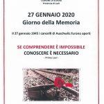 27/1/2020 GIORNATA DELLA MEMORIA